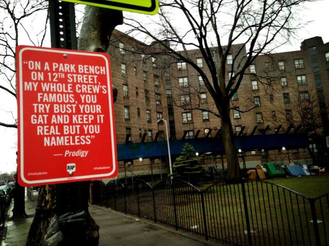 "Jay Shells' ""Rap Quotes"" project, here in Queensbridge"